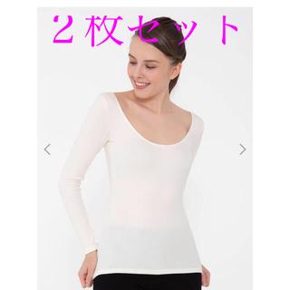 チュチュアンナ(tutuanna)のtutuheat チュチュヒートプラス‼️深U 長袖(Tシャツ(長袖/七分))
