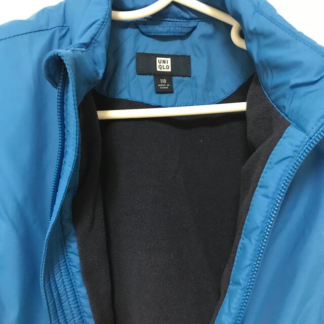 UNIQLO(ユニクロ)の(かい様専用)新品ユニクロ 裏フリースベスト 110 キッズ/ベビー/マタニティのキッズ服男の子用(90cm~)(ジャケット/上着)の商品写真