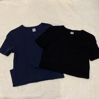 プチバトー(PETIT BATEAU)の美品 プチバトー 2枚セット(Tシャツ(半袖/袖なし))