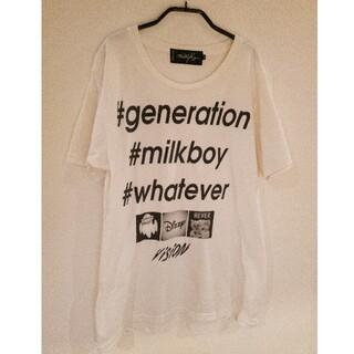 ミルクボーイ(MILKBOY)のMILKBOY Tシャツ instagram風 ディズニー風 ホワイト(Tシャツ/カットソー(半袖/袖なし))