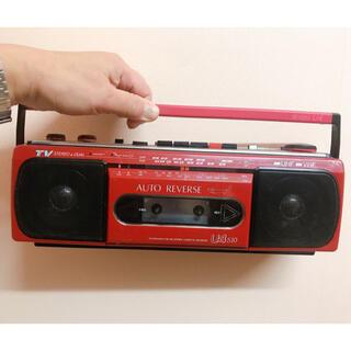 サンヨー(SANYO)のレトロ ラジカセ SANYO 送料込 値下げ AMのみ使える。ACアダプタ付(ラジオ)