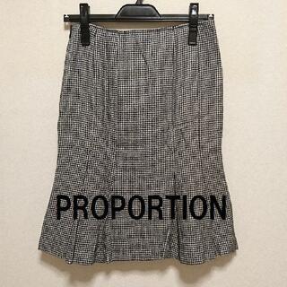 PROPORTION BODY DRESSING - ★格安 PROPORTION(プロポーション)千鳥格子スカート★