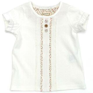 ビケット(Biquette)のサイズ130 ビケット 白 花柄 トップス カットソー 新品未開封(Tシャツ/カットソー)