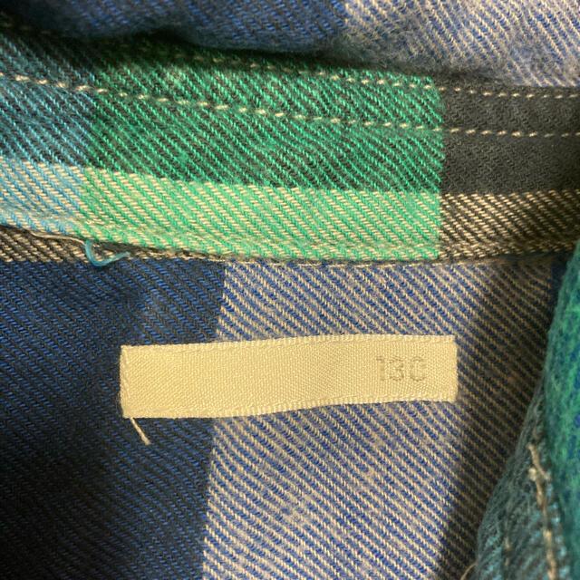 GU(ジーユー)のGU ネルシャツ キッズ/ベビー/マタニティのキッズ服男の子用(90cm~)(Tシャツ/カットソー)の商品写真
