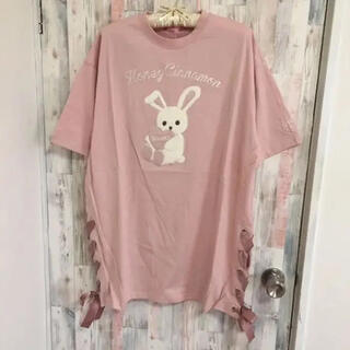 Honey Cinnamon - 新品未使用 ハニーシナモン ハニーアップリケTシャツ うさぎ ピンク