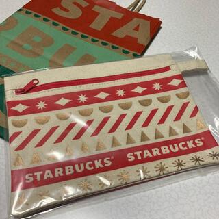 スターバックスコーヒー(Starbucks Coffee)のスターバックス  スタバ ポーチ 赤(ノベルティグッズ)