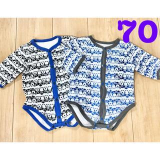 ニシマツヤ(西松屋)の肌着 ロンパース 70 シャツ(肌着/下着)