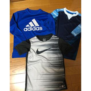 adidas - NIKE ナイキ Tシャツ adidas ゲームシャツ ロンT サッカー 130
