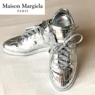 Maison Martin Margiela - 美品 メゾンマルジェラ メタリックレザー レプリカ スニーカー