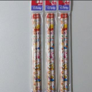 ミツビシエンピツ(三菱鉛筆)のディズニー  プーさん 赤鉛筆 6本(鉛筆)