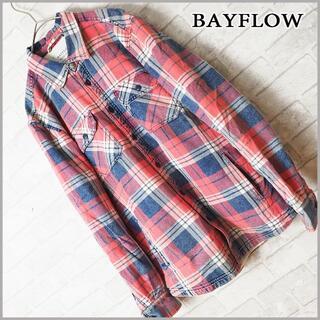 BAYFLOW - 人気商品 BAYFLOW ベイフロー ボア チェックシャツJKT サーフ