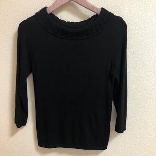 ストロベリーフィールズ(STRAWBERRY-FIELDS)のストロベリーフィールズ 黒ニット セーター (ニット/セーター)