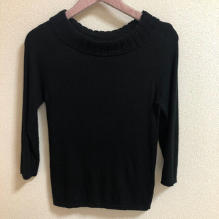 STRAWBERRY-FIELDS - ストロベリーフィールズ 黒ニット セーター