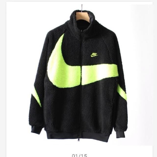 NIKE(ナイキ)のナイキ ブルゾン ボアジャケット ネオン ブラック メンズのジャケット/アウター(ブルゾン)の商品写真