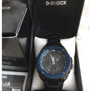 ジーショック(G-SHOCK)のG-SHOCK  G-STEELブラック×ブルー(腕時計(アナログ))