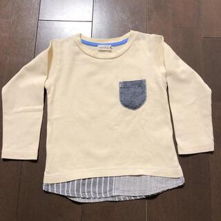 Branshes - ブランシェス☆Tシャツ ロンT☆重ね着風 トップス☆アイボリー 100