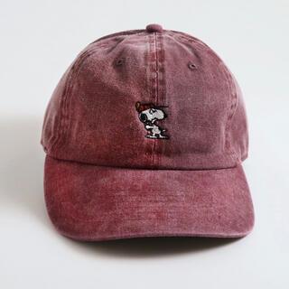ピーナッツ(PEANUTS)のPEANUTS Cafe ピーナッツカフェ スヌーピー 刺繍キャップ(ニット帽/ビーニー)