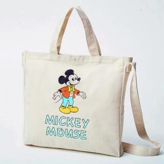 ミッキーマウス - ♡新品未使用雑誌付録ミッキーマウスショルダー付きトートバッグ
