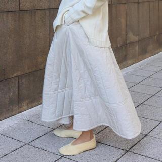 machatt  キルティングスカート(ロングスカート)