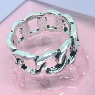 チェーン シルバー925 リング  スターリング ユニセックス シンプル 銀指輪(リング(指輪))