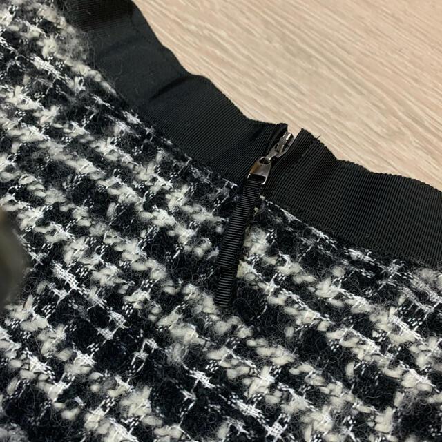 M-premier(エムプルミエ)のm-premier ツイードスカート レディースのスカート(ひざ丈スカート)の商品写真