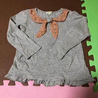サンカンシオン(3can4on)の3can4on  グレーのスカーフ風トップス(Tシャツ/カットソー)