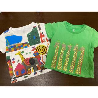 グラニフ(Design Tshirts Store graniph)のグラニフ  五味太郎 シャツ 80(90) 2枚 中古 きんぎょがにげた(Tシャツ/カットソー)