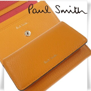 Paul Smith - Paul Smith 箱付き 山羊革 二つ折り名刺入れ カラーブロックゴート