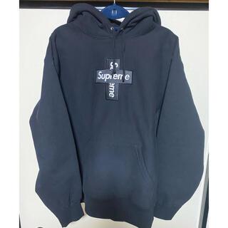 Supreme - Cross Box Logo Hooded Sweatshirt
