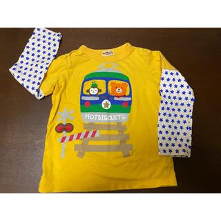 ホットビスケッツ(HOT BISCUITS)のミキハウス ホットビスケッツ シャツ 100(110) 中古 黄色(Tシャツ/カットソー)