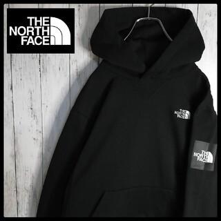 THE NORTH FACE - 【人気デザイン】ノースフェイス 両面刺繍ロゴ スクエアロゴフーディー 裏起毛