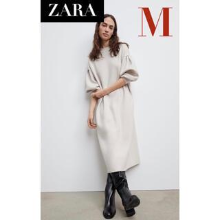 ZARA - 【新品/未着用】ZARA オーバーサイズニットワンピース  ニットワンピース