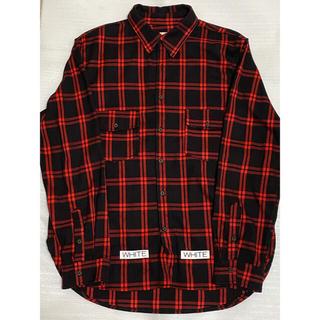 OFF WHITE レプリカ品 赤チェックシャツ(シャツ)