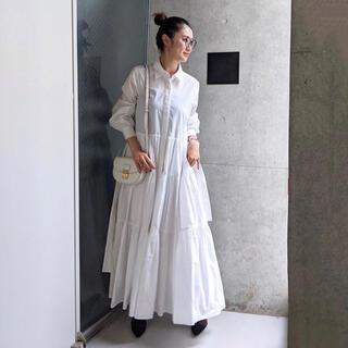 OBLI ティアードシャツワンピース/ホワイト
