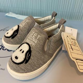 SNOOPY - スヌーピー  15cm 靴 サガラ刺繍 スリッポン スニーカー キッズ