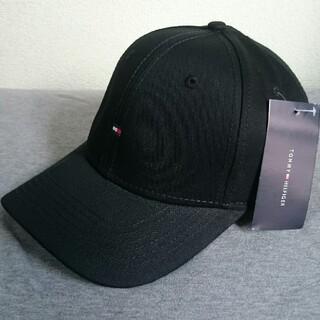 TOMMY HILFIGER - 限定期間セール!! 新品タグ付 トミーヒルフィガー スモールロゴ 帽子 ブラック