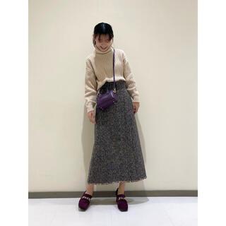 リリーブラウン(Lily Brown)の<新品タグ付き> lily brown 今期ウール混ミディスカート(ロングスカート)