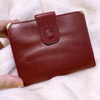 【DOMINA】イタリア製 本レザー ボルドー 二つ折り財布 美品 ヴィンテージ