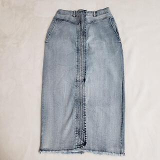 ダブルクローゼット(w closet)のステッチタイトスカート(ロングスカート)