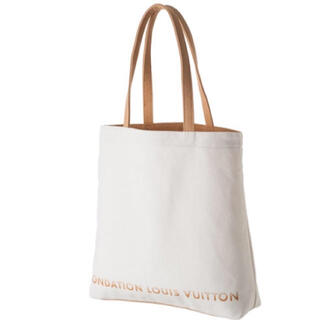 LOUIS VUITTON - ルイヴィトン美術館 フォンダシオン  限定 トートバッグ LV 白