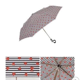 ジルスチュアート(JILLSTUART)のJILLSTUART 折り畳み傘 自動開閉 マリンボーダー(傘)