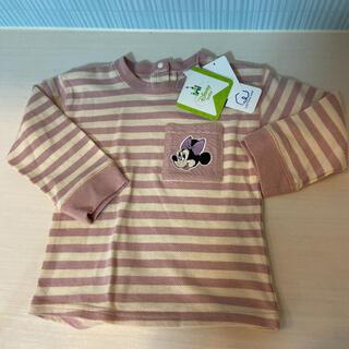 Disney - ミニー 長袖Tシャツ 90 ベビー 刺繍 レトロ ディズニー  春服 女の子