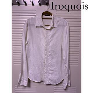 Iroquois - Iroquois 花柄刺繍長袖シャツ オフホワイト