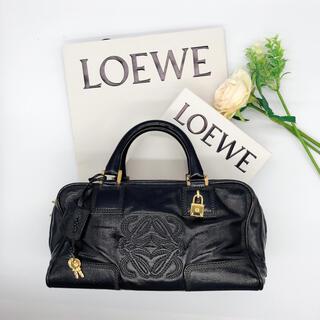 ロエベ(LOEWE)のROEWE ロエベ アマソナ 28 オールブラック ハンドバッグ(ハンドバッグ)