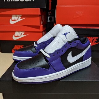 NIKE - AIR JORDAN 1 LOW REVERSE COURT PURPLE