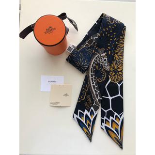 エルメス(Hermes)の新品 HERMES ツイリー 三美神 スリーグレイス 黒(バンダナ/スカーフ)