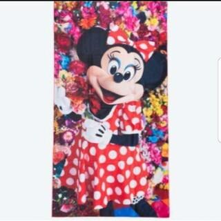 ディズニー(Disney)の旧フェイス 蜷川実花 ミニーマウス イマジニングザマジック バスタオル(キャラクターグッズ)