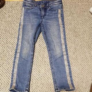 エイチアンドエム(H&M)のサイドラインキラキラデニム(サイズ100)(パンツ/スパッツ)