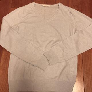 ミーア(MIIA)のVネックニット セーター 水色(ニット/セーター)