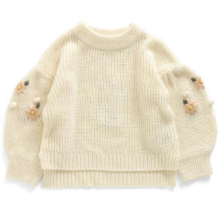 F.O.KIDS - アプレレクール 袖刺繍ニット 90〜100
